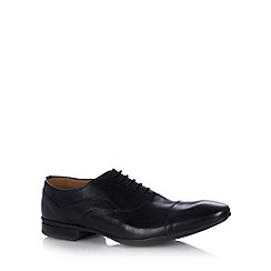 Henley Comfort - Black leather toe cap shoes