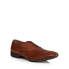 Henley Comfort - Tan leather toe cap shoes
