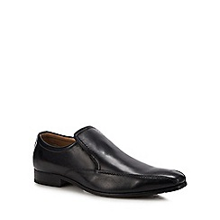 Henley Comfort - Black leather tramline shoes