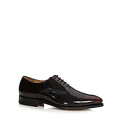Jeff Banks - Designer wine leather toecap brogues