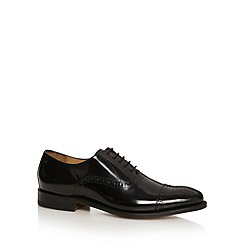Jeff Banks - Designer black leather toecap brogues