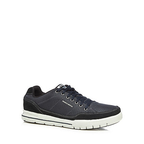 Skechers - Navy leather +Arcade 2 Circulate+ trainers