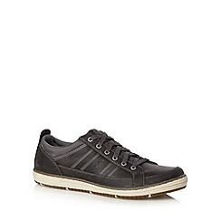 Skechers - Charcoal 'Irvin Hamal' leather trainers