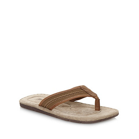 Mantaray - Khaki canvas flip flops