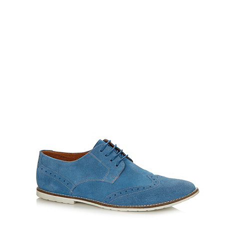 Red Herring - Blue suede brogues