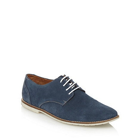 Red Herring - Navy lace up suede leather shoes
