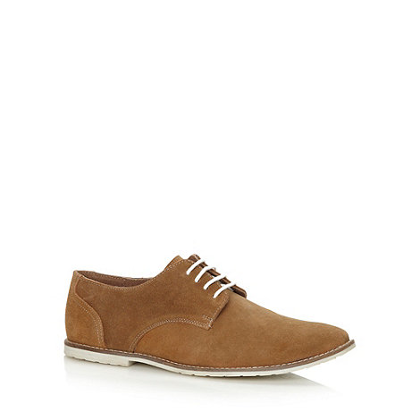 Red Herring - Tan lace up suede leather shoes