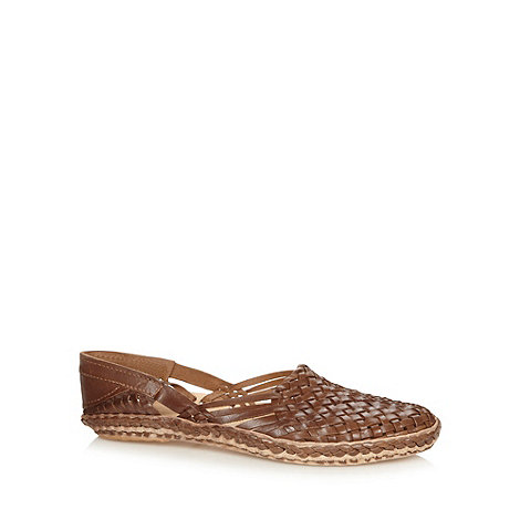 Red Herring - Tan woven leather sandals