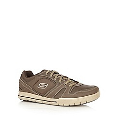 Skechers - Chocolate 'Arcade 2 Lounging' trainers
