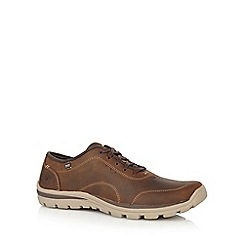 Skechers - Big and tall dark brown 'superior harvin' trainers