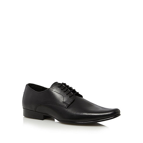 Thomas Nash - Black leather five eye shoes