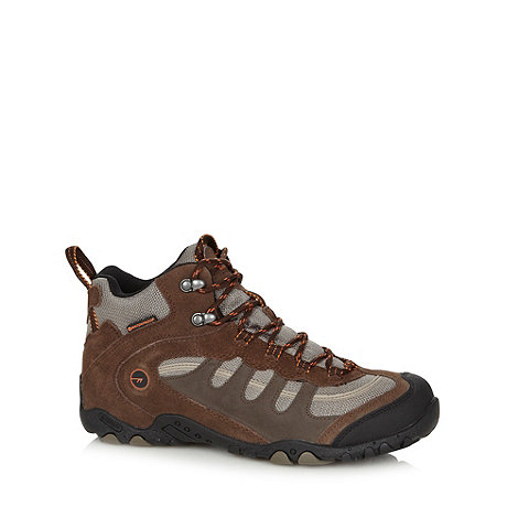 Hi-Tec - Chocolate mesh upper boots