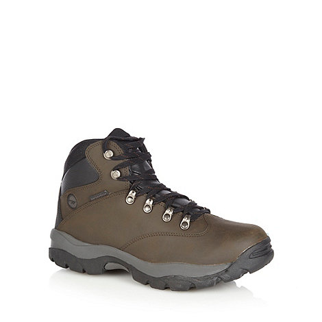 Hi-Tec - Chocolate leather waterproof walking boots