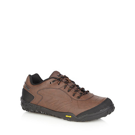 Hi-Tec - Brown leather waterproof trainers