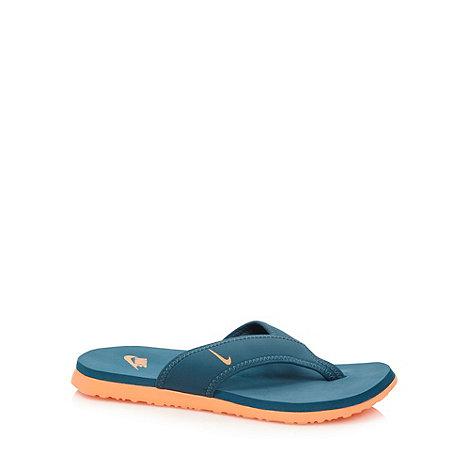 Nike - Dark turquoise +Celso+ toe post flip flops