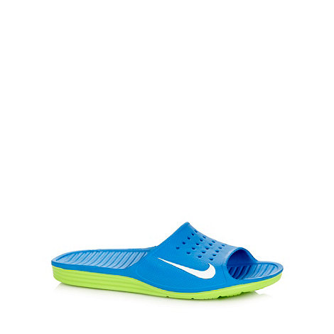 Nike - Blue +Solarsoft Slide+ sandals