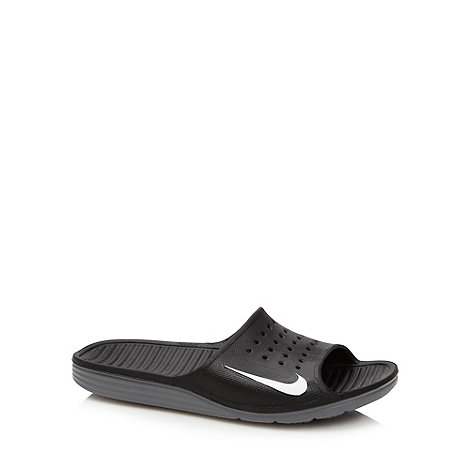 Nike - Black 'Solarsoft Slide' sandals