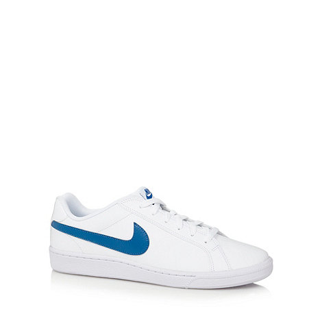 Nike - White +Court Majestic+ leather trainers