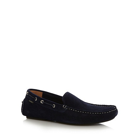 Loake - Navy +Donnington+ suede driver shoes