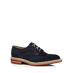 Loake - Navy suede punched hole shoes