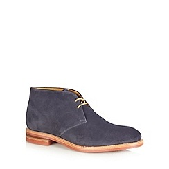 Loake - Navy suede lace up chukka boots