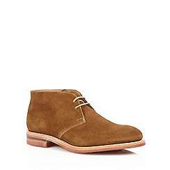 Loake - Tan suede lace up chukka boots