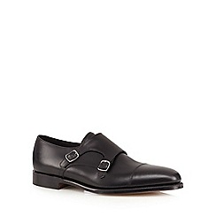 Loake - Black double buckle shoes