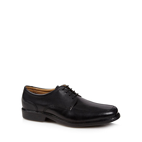 Henley Comfort - Black leather comfort lace up shoes