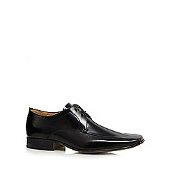 Jeff Banks - Designer black 'Philip' leather tramline shoes