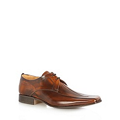 Jeff Banks - Designer Brown 'Philip' leather tramline shoes