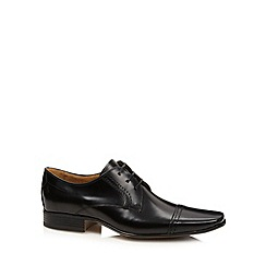 Jeff Banks - Designer black 'Oliver' leather derby shoes