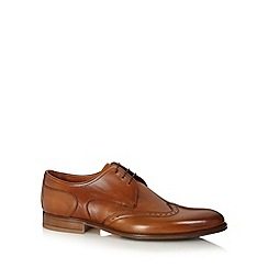 J by Jasper Conran - Designer brown leather punched hole wingtip shoes