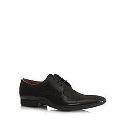 J by Jasper Conran - Designer black leather brogue trim lace up shoes