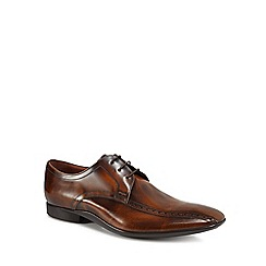 J by Jasper Conran - Designer brown leather brogue trim lace up shoes