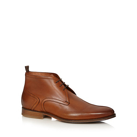J by Jasper Conran - Designer tan leather chukka boots