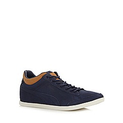 Puma - Blue leather 'LoPro Tarrytown' trainers
