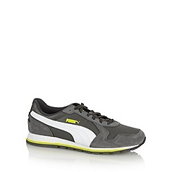 Puma - Grey leather runner shoes