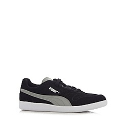 Puma - Black 'Icra' suede branded trainers