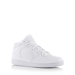Nike - White 'Priority' leather mid cuff trainers
