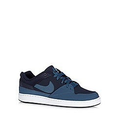 Nike - Navy 'Priority' leather trainers