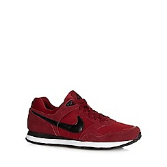 Nike - Dark red 'MD Runner Q4' suede trainers