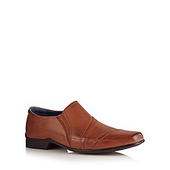 Hush Puppies - Tan leather toe cap slip on shoes