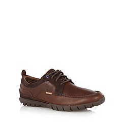 Hush Puppies - Brown leather and suede lace up shoes