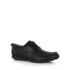 Hush Puppies - Black leather and suede lace up shoes