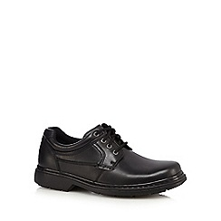 Hush Puppies - Black panelled leather lace up shoes