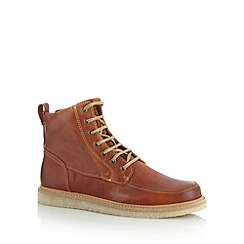 RJR.John Rocha - Designer tan thick soled lace-up boots