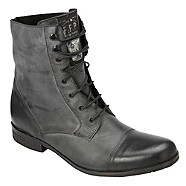 Black Fidel toe cap leather boots