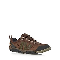 Merrell - Brown punched hole walking trainers