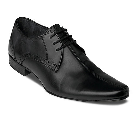 Red Herring - Black Whirlwind centre seam lace up shoes
