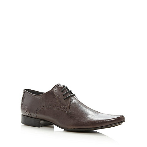 Red Herring - Brown Whirlwind centre seam lace up shoes
